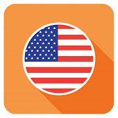a usa flat flag icon