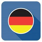 a german flat flag icon