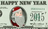 Bank note with Santa Claus portrait closeup