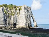 Cliff With Arch On Beach Of etretat