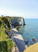 Coast Of English Channel Beach In etretat