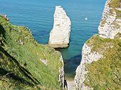 Rocks Near English Channel Beach Of etretat