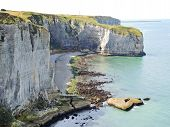 View Of Stone English Channel Shore On etretat