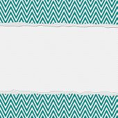 Teal And White Torn Frame Background