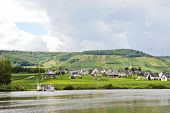 pic of moselle  - Ellenz Poltersdorf village on Moselle riverbank Germany - JPG