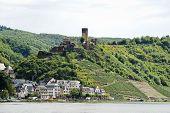 View Of Beilstein Village And Metternich Castle