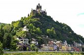 Cochem Imperial Castle Over Cochem Town, Germany