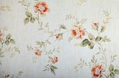 Vintage Victorian Wallpaper With Floral Pattern
