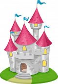 Illustration Featuring a Medieval Castle