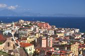 Picturesque summer panorama of Naples, Campania region in Italy