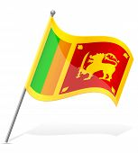 Flag Of Sri Lanka Vector Illustration