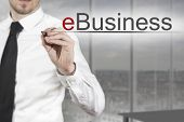 Businessman Writing Ebusiness
