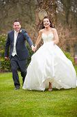 Romantic Bride And Groom On Wedding Day
