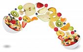 Healthy Eating Fruit Salad With Fruits Like Apples, Oranges, Banana And Strawberry Fruit Salad With