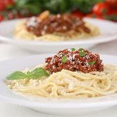 Spaghetti Noodles Pasta With Bolognese Sauce