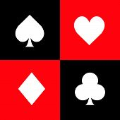 Set of playing card symbols