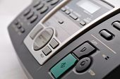 Close Up Of Black Telephone Fax