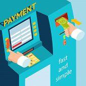 ATM terminal payment cash