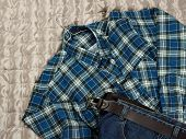 Checkered Flannel Shirt And Jeans