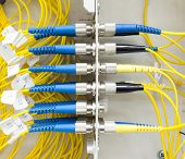 Fiber Optic Patch Cord In Wall Box