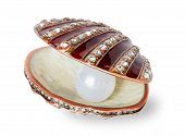 pic of casket  - Large white pearl in a casket shell - JPG