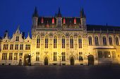 The Town Hall In Bruges At Night (belgium)