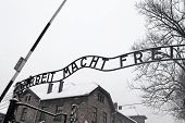 Arbeit Macht Frei Sign (work Liberates) In Concentration Camp Auschwitz, Poland