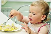 Baby With Fork