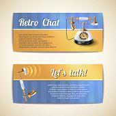Antique telephones horizontal banners
