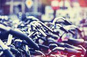 Bikes On Parking In Amsterdam