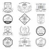 University Labels Set