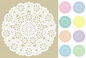 Snowflake Lace Doilies, Pastels