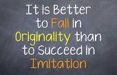 It is Better to Fail in Originality