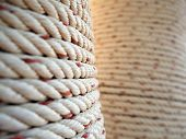 Thick rope wrapped around a pillar