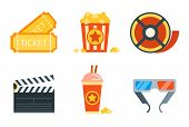 image of storyboard  - Flat icons set of professional film production - JPG