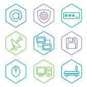 data analytics icons set, big data concept icons pak