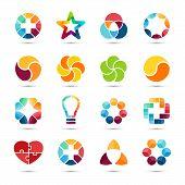 pic of interlocking  - Modern vector creative abstract design symbol - JPG