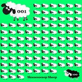 White And Black Sheep Counting On Green Background Eps10