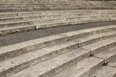 Weathered Concrete Tiered Steps In Portland, Oregon