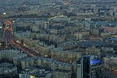 Evening panoramic view of Moscow