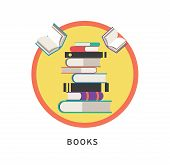 Books step education infographics. Vector illustration. can be used for workflow layout, banner, dia