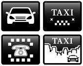 set black taxi cab icons