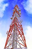 foto of relay  - Radio Relay Link Mobile Base Station of Mobile Operator (BTS)