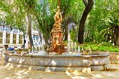 stock photo of fountains  - Fountain in park  - JPG