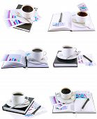 Business Collage,collection-coffee Cup,organizer.