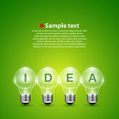 Vector idea light bulb on the background