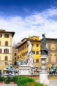 Neptun Fontain, Florence, Italy