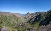 The valley of Vallehermoso northbound