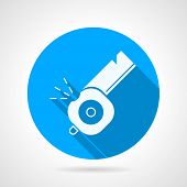 Whistle flat vector icon