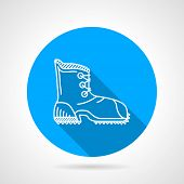 Flat line vector icon for hike shoe